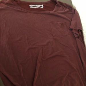 Tops - maroon shirt
